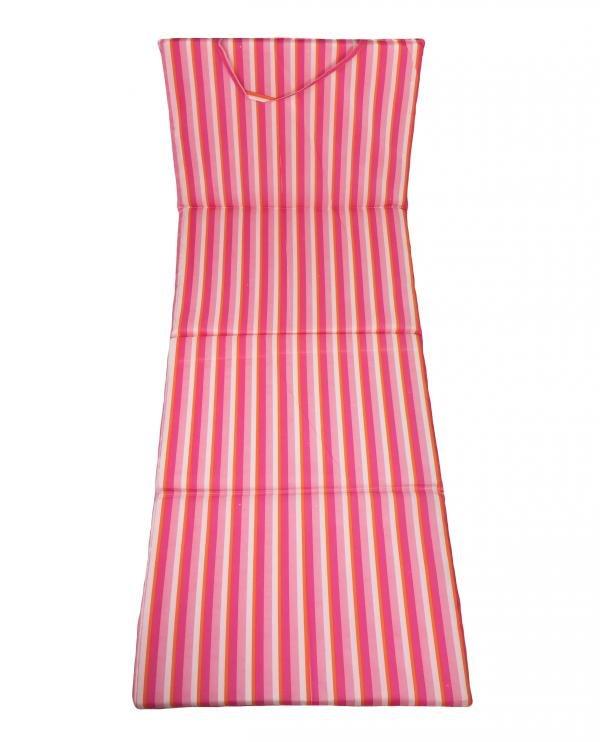 Růžové skládací plážové lehátko - délka 165 cm, šířka 50 cm a výška 1,5 cm