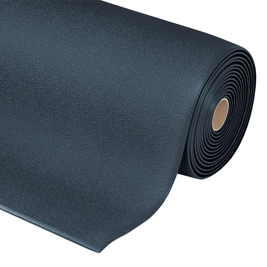 Černá protiúnavová průmyslová rohož Sof-Tred, Plus - výška 0,94 cm