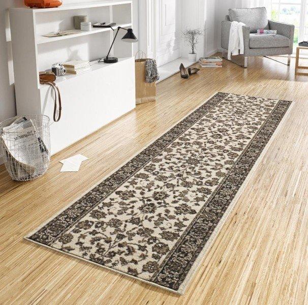 Béžový moderní kusový koberec Basic - délka 400 cm a šířka 80 cm