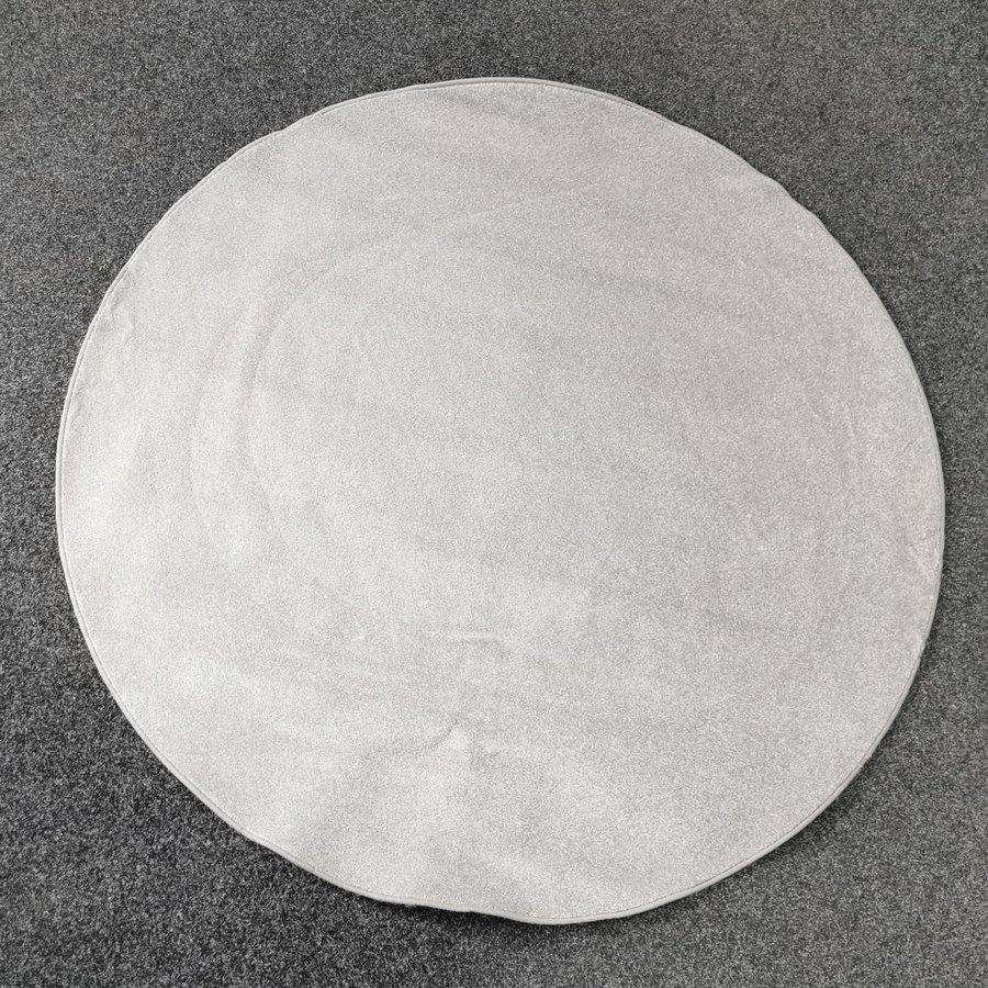 Šedý kusový kulatý koberec Eton - průměr 200 cm
