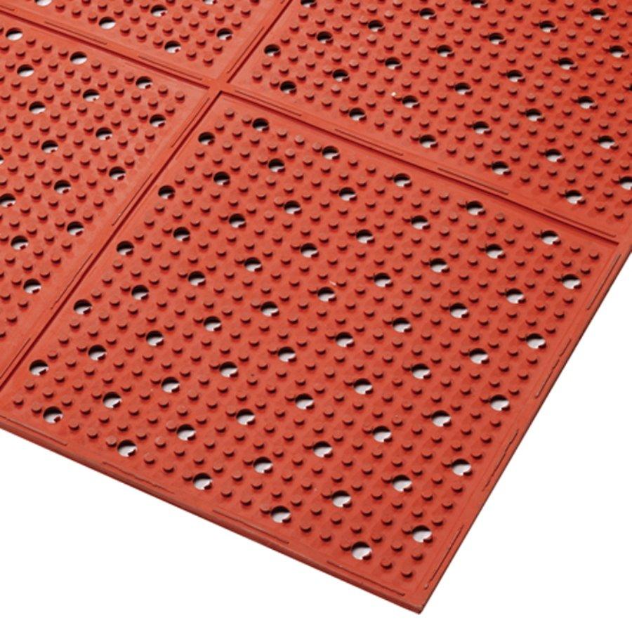 Červená gumová oboustranná protiskluzová rohož Red, Multi Mat II - výška 0,95 cm