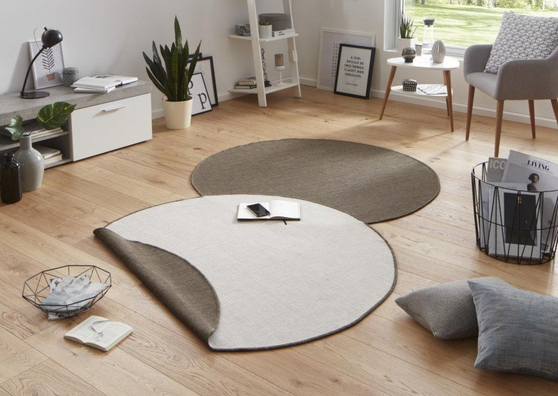 Různobarevný oboustranný kulatý koberec Twin-Wendeteppiche - průměr 200 cm