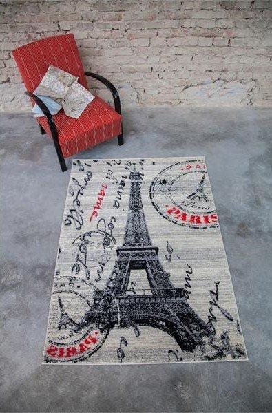 Béžový moderní kusový dětský koberec Popart - délka 150 cm a šířka 80 cm