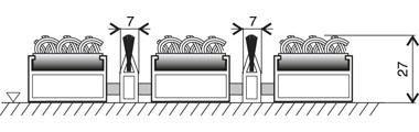 Textilní hliníková kartáčová vnitřní vstupní rohož Alu Extra, FLOMAT, 01 - délka 100 cm, šířka 100 cm a výška 2,7 cm