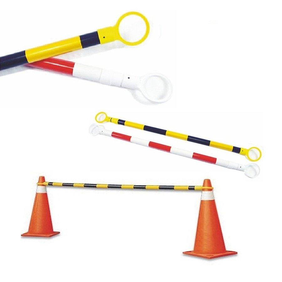 Černo-žlutá vymezovací tyč k dopravním kuželům - délka 115-250 cm
