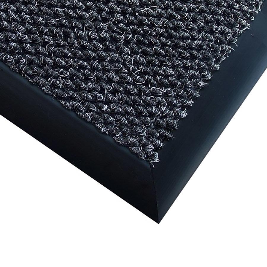 Antracitová textilní vstupní vnitřní čistící zátěžová rohož Perla - délka 100 cm, šířka 200 cm a výška 1,2 cm