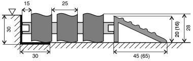 Hliníková gumová vstupní venkovní rohož Alu Wave, FLOMA - délka 100 cm, šířka 100 cm a výška 2,8 cm