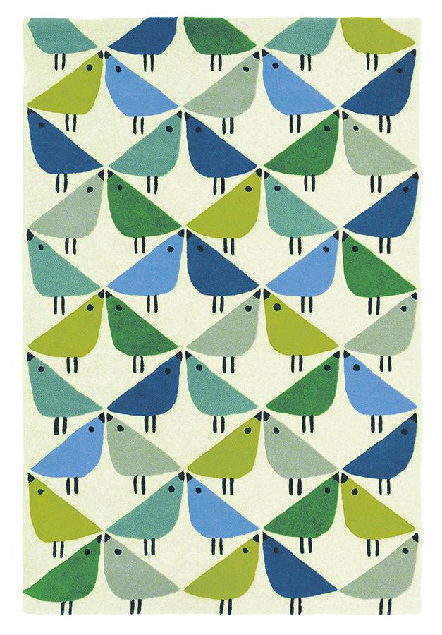 Různobarevný moderní kusový koberec Lintu - délka 150 cm a šířka 90 cm