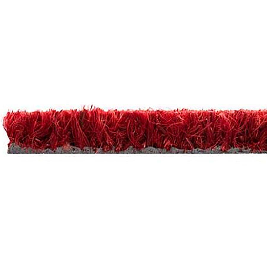 Červená kokosová vstupní čistící metrážová rohož Rucco - délka 1 cm, šířka 120 cm a výška 1,7 cm