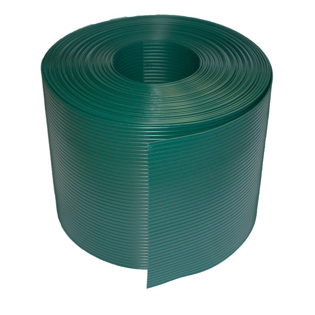 Zelený plastový ratanový stínící pás - délka 20 m a výška 19 cm