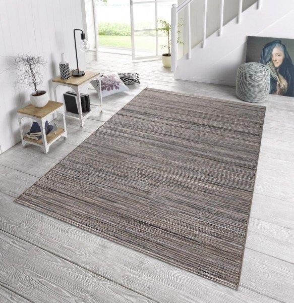 Šedý kusový moderní koberec Lotus