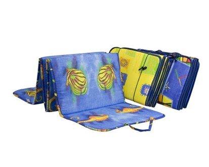Různobarevné plážové skládací lehátko - délka 195 cm, šířka 50 cm a výška 1,5 cm