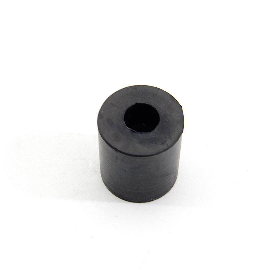 Černý pryžový válcový doraz s dírou pro šroub FLOXO - průměr 3 cm a výška 3 cm