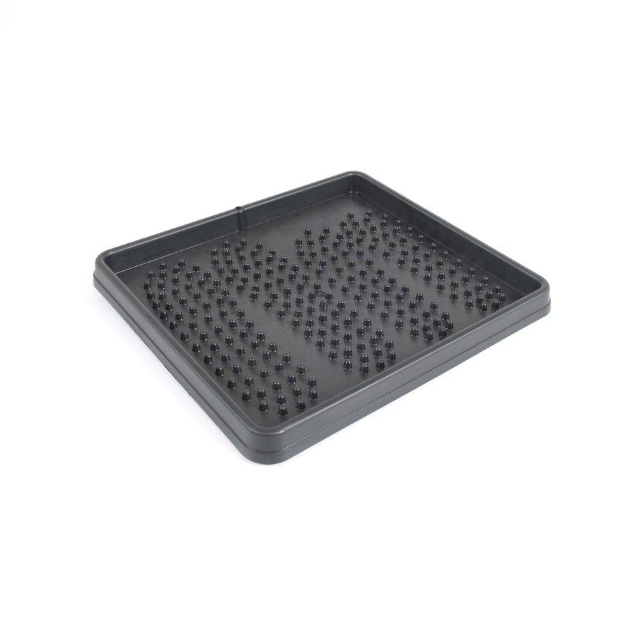Černý plastový odkapávač na boty - délka 35 cm, šířka 45 cm a výška 3 cm
