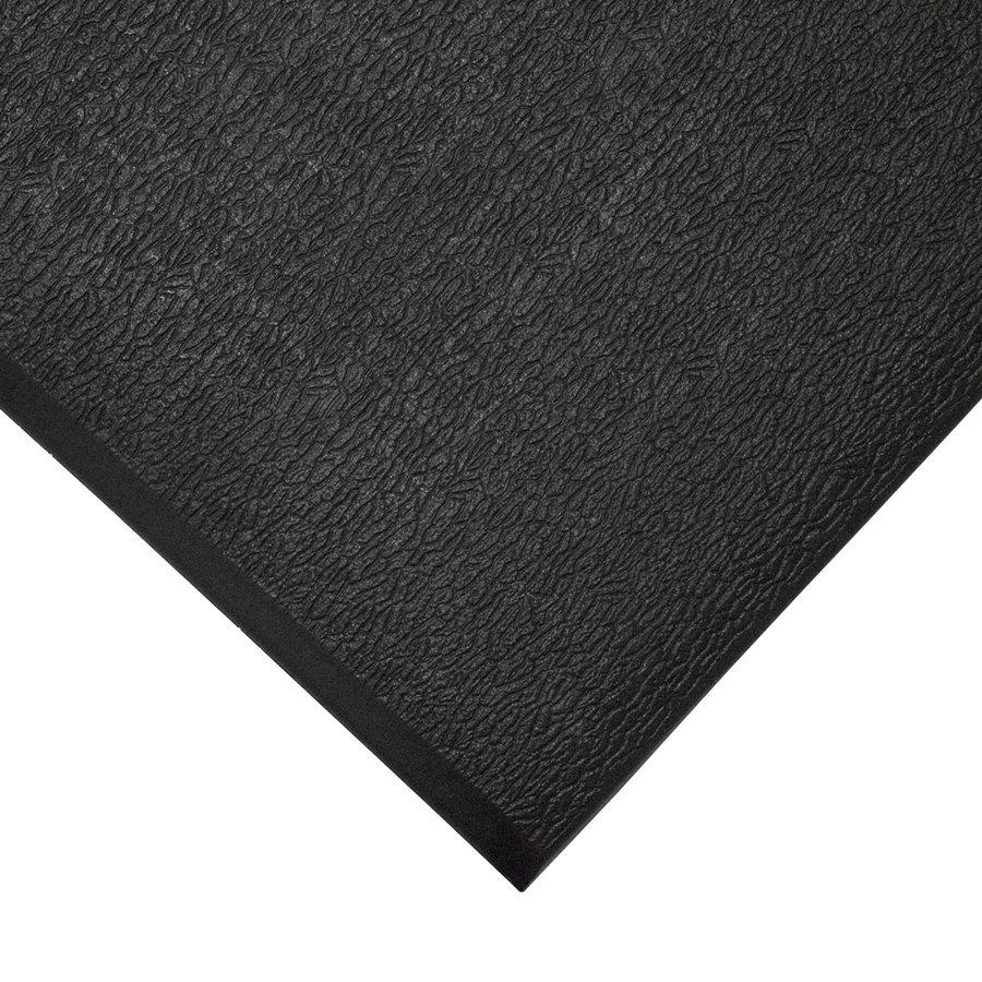 Černá protiskluzová protiúnavová průmyslová pěnová rohož - délka 90 cm, šířka 60 cm a výška 0,9 cm