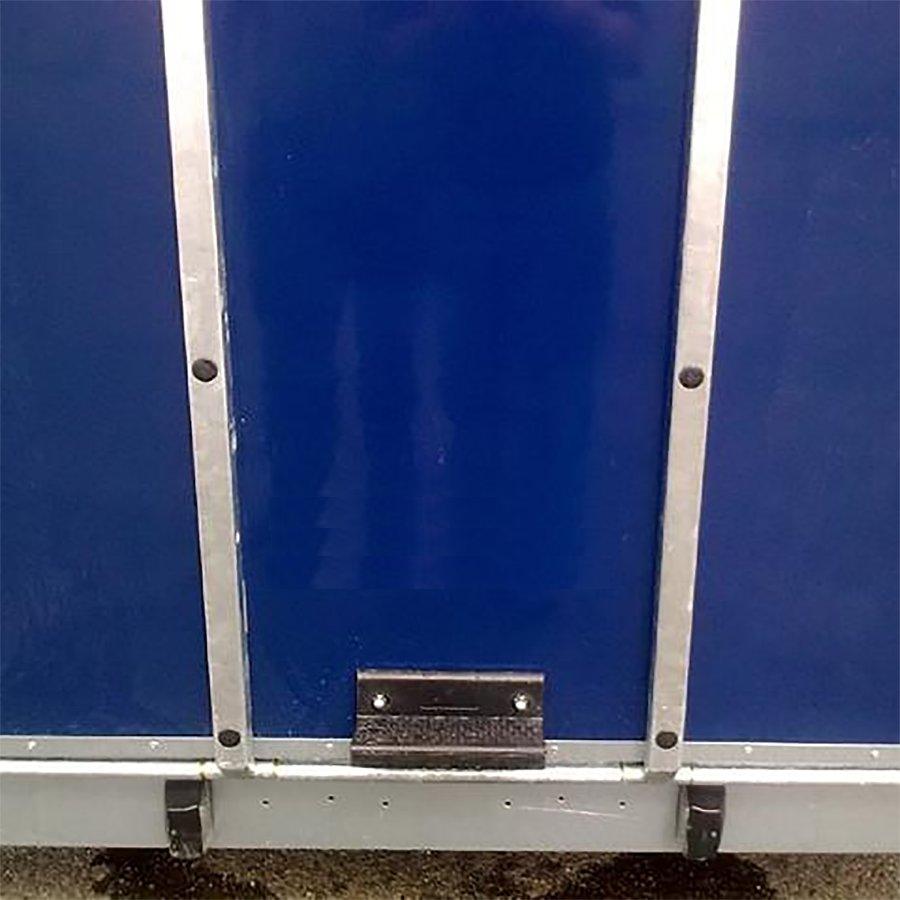 Gumové stupátko pro přívěsy a vozíky s výztuhou FLOMA - délka 18 cm, šířka 8,8 cm a výška 6 cm