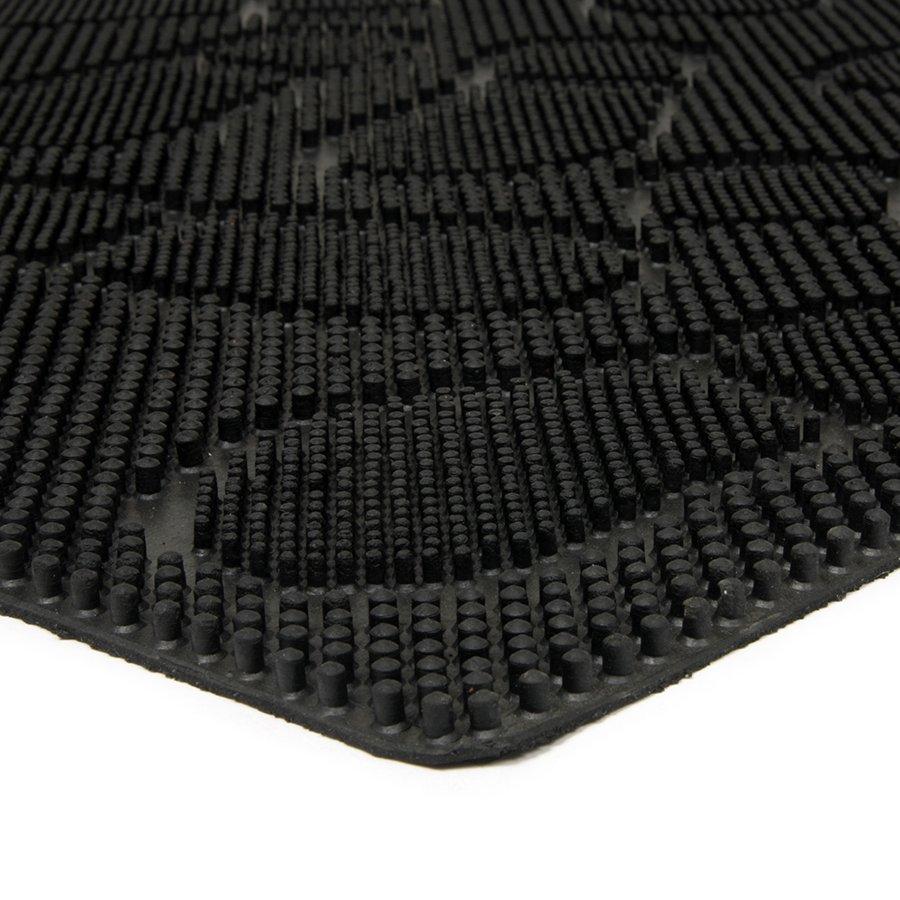 Gumová čistící venkovní vstupní rohož FLOMA Shoes - délka 60 cm, šířka 90 cm a výška 1 cm