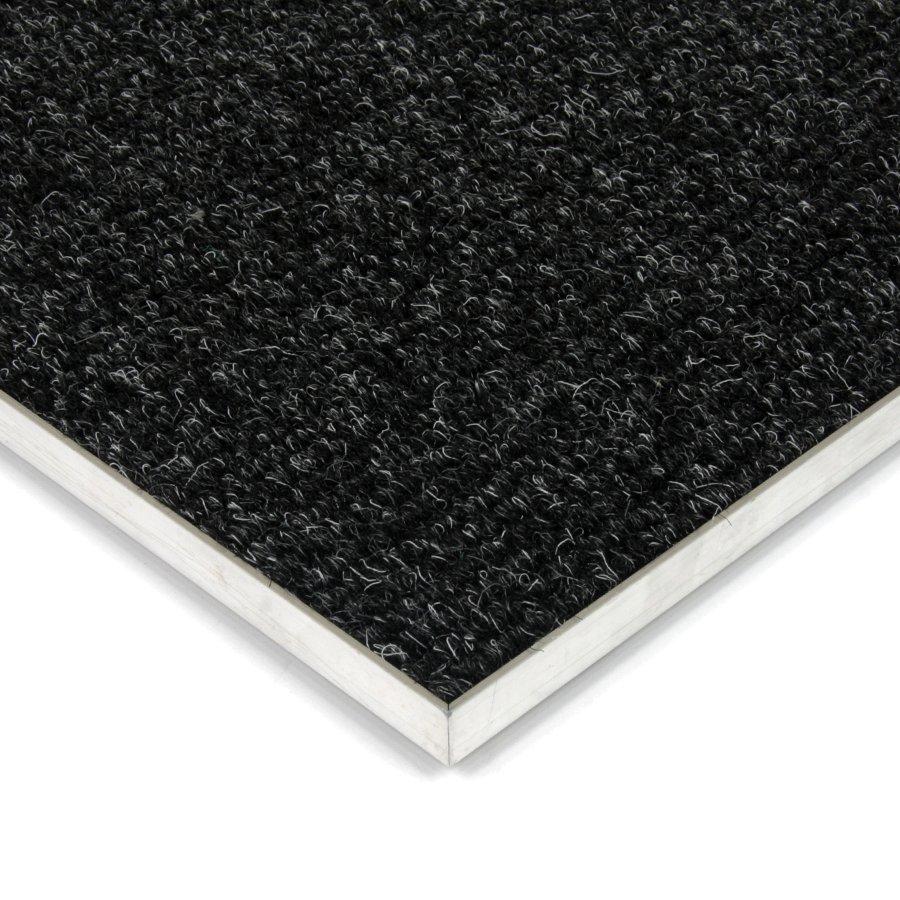 Černá kobercová vnitřní čistící zóna Catrine, FLOMAT, 01 - délka 100 cm, šířka 100 cm a výška 1,35 cm