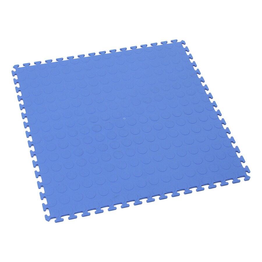 Modrá plastová zátěžová puzzle dlažba Tenax - délka 50 cm, šířka 50 cm a výška 0,5 cm