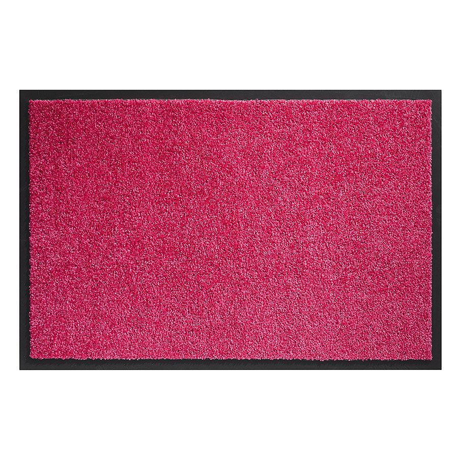 Růžová vnitřní vstupní čistící pratelná rohož Twister, FLOMA - délka 60 cm, šířka 90 cm a výška 0,8 cm