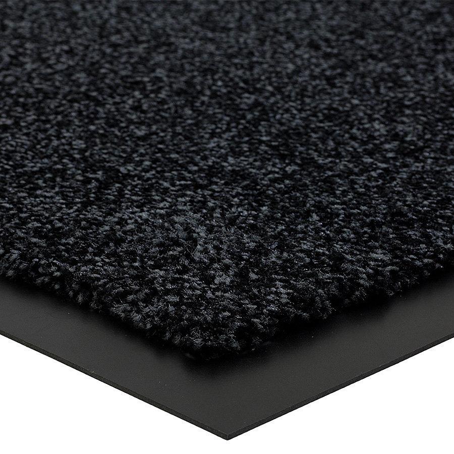 Černá metrážová čistící vnitřní vstupní rohož (lem - 2 strany) Briljant, FLOMA (Bfl-S1) - délka 1 cm a výška 0,9 cm