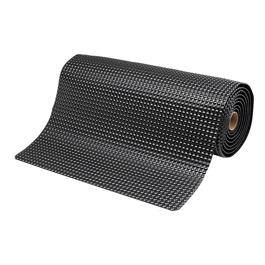 Černá protiúnavová průmyslová laminovaná rohož (metráž) Sky Trax - délka 1 cm a výška 1,9 cm