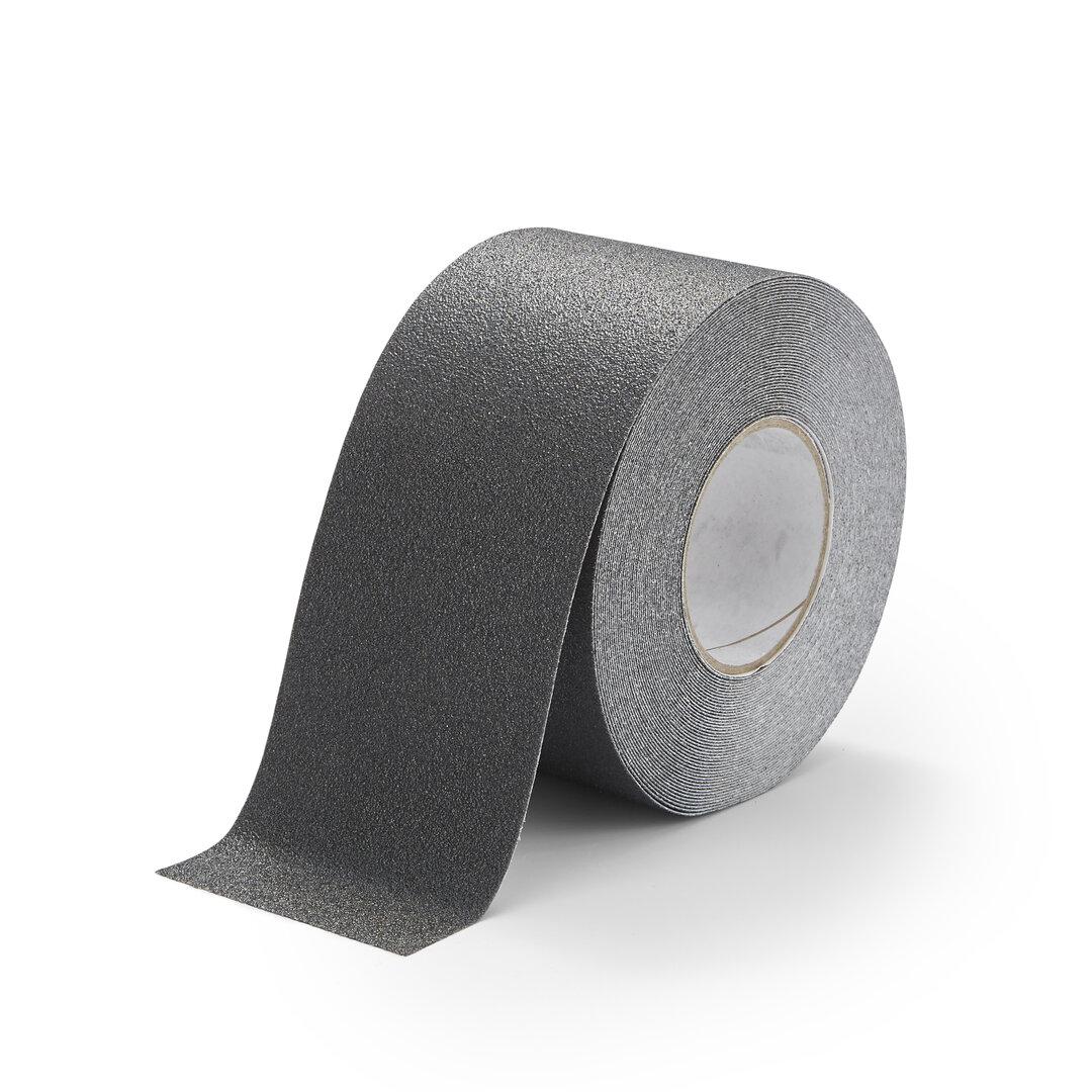 Černá korundová chemicky odolná protiskluzová podlahová páska FLOMA Standard - délka 18,3 m a šířka 10 cm