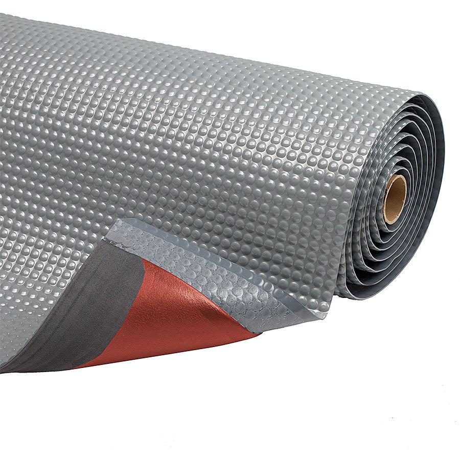 Šedá protiúnavová průmyslová laminovaná rohož Sky Trax - šířka 152 cm a výška 1,9 cm