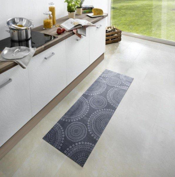 Šedá kuchyňská kusová moderní předložka Cook & Clean - délka 150 cm a šířka 50 cm