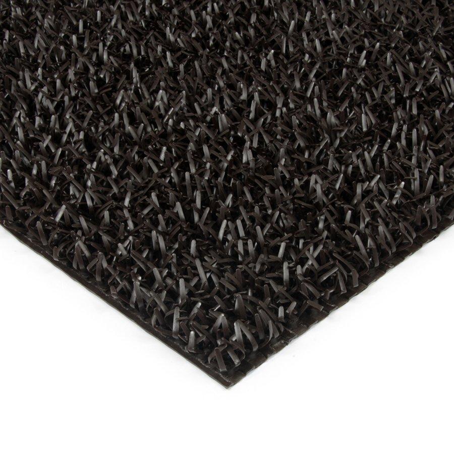 Hnědá plastová univerzální čistící metrážová vstupní rohož FLOMA Astra - šířka 91 cm a výška 1,8 cm