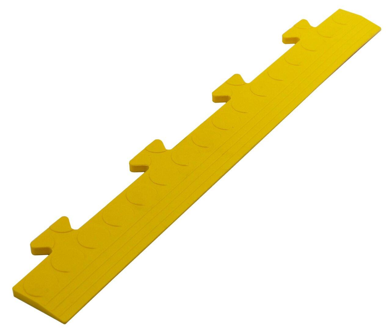 """Černý PVC vinylový nájezd """"samec"""" pro dlaždice Tenax - délka 48 cm, šířka 7 cm a výška 0,8 cm"""