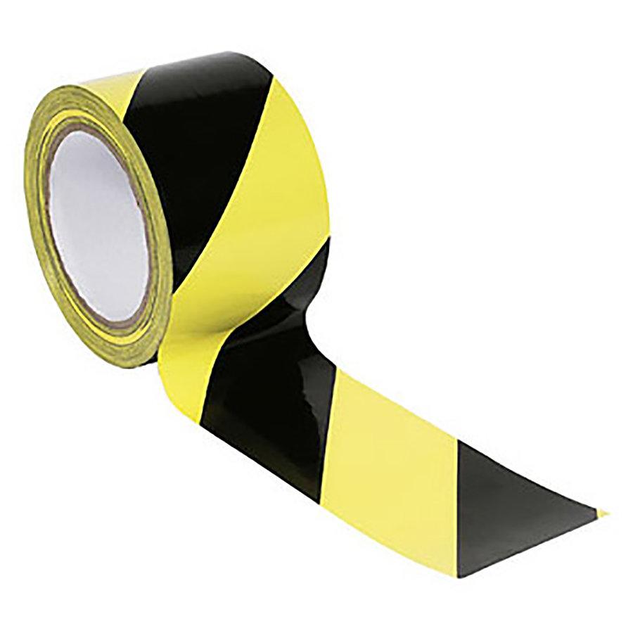 Černo-žlutá vyznačovací podlahová páska - délka 33 m a šířka 5 cm