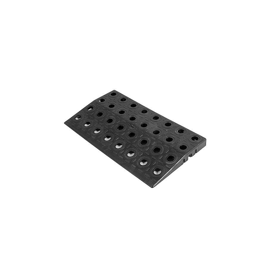 Černý plastový nájezd AvaTile AT-HRD - délka 25 cm, šířka 13,7 cm a výška 1,6 cm