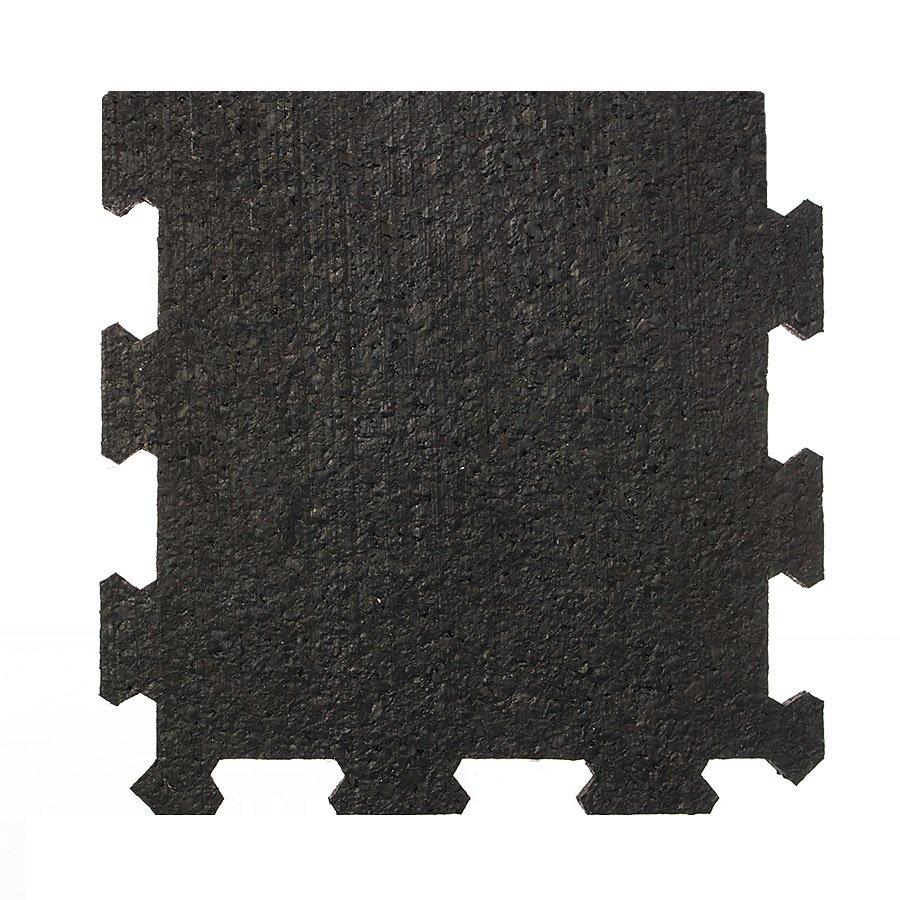 Černá pryžová modulární fitness deska (okraj) SF1050, FLOMA - délka 95,6 cm, šířka 95,6 cm a výška 0,8 cm