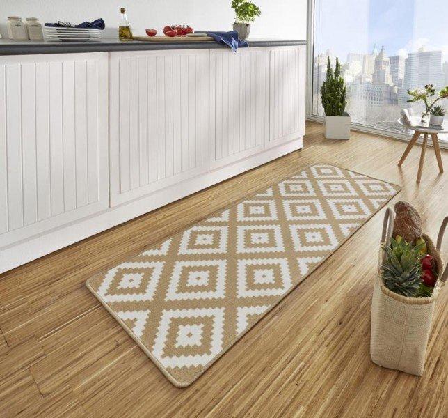 Hnědý moderní kusový bytový koberec Loop - délka 180 cm a šířka 67 cm