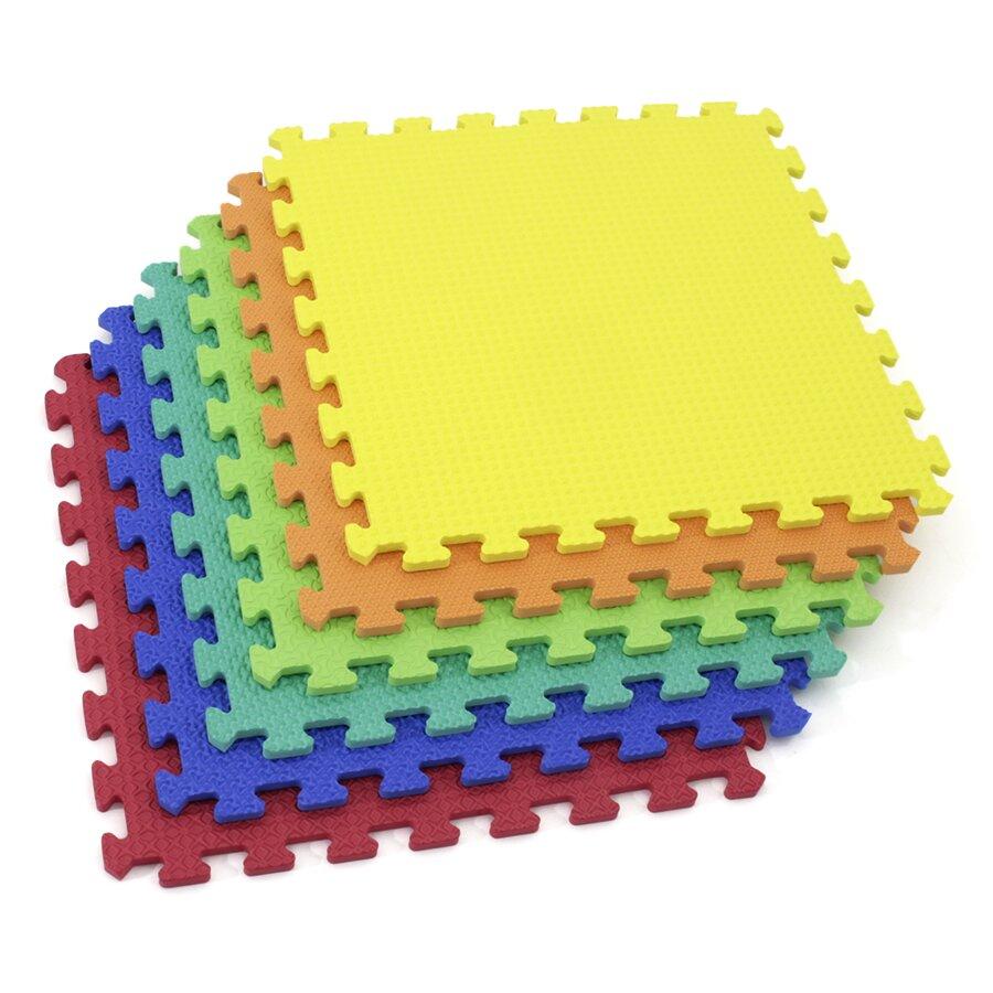 Dětská hrací modulová podložka (6x puzzle) SPARTAN SPORT - délka 46 cm, šířka 46 cm a výška 1,2 cm