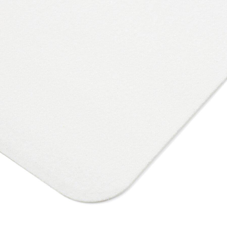 Bílá korundová protiskluzová páska (pás) FLOMA Standard - délka 15 cm, šířka 61 cm a tloušťka 0,7 mm