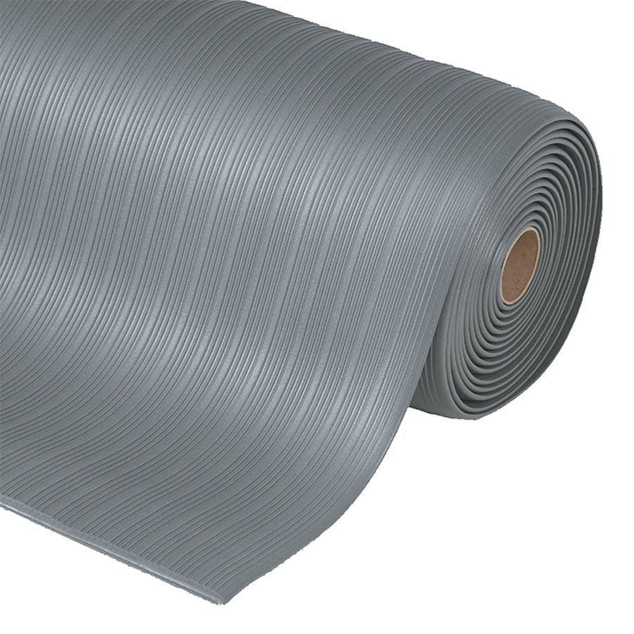 Šedá protiúnavová průmyslová rohož Plus, Airug - výška 0,94 cm