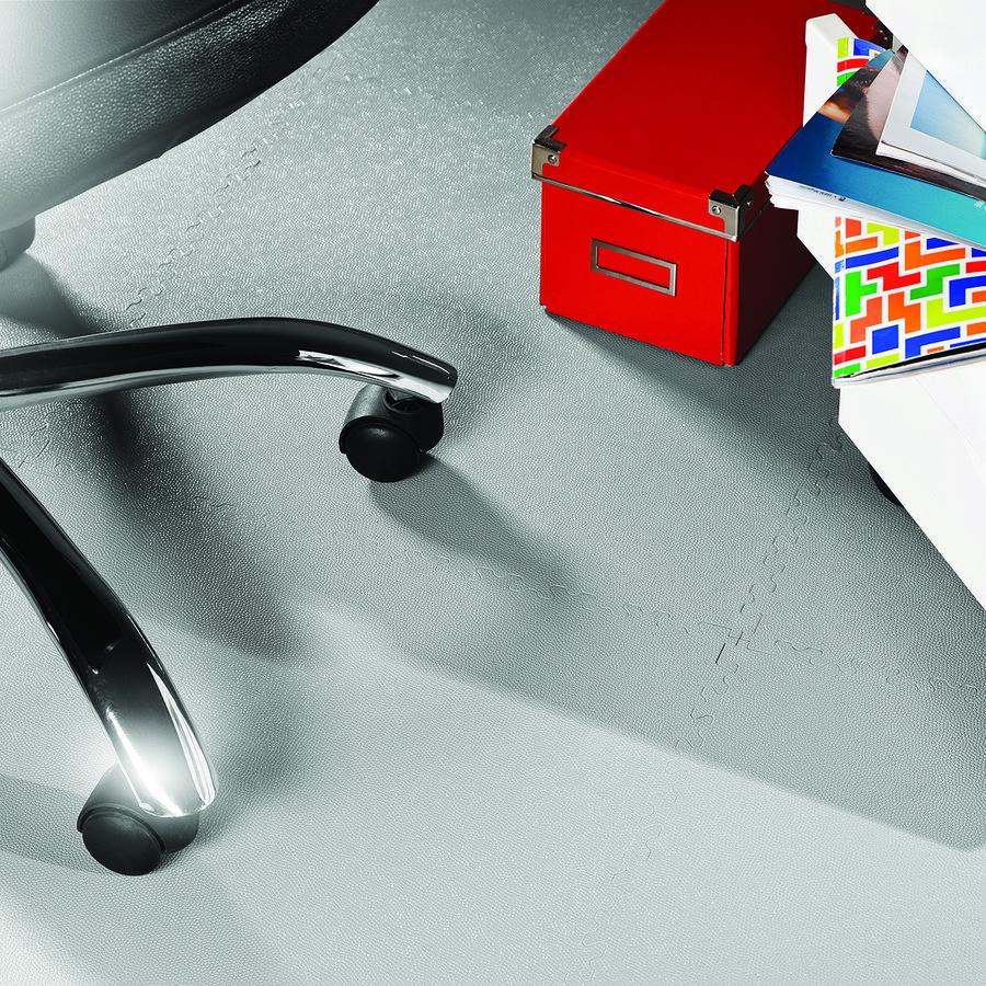 Modrá vinylová plastová zátěžová dlaždice Industry 2020 (kůže), Fortelock - délka 51 cm, šířka 51 cm a výška 0,7 cm