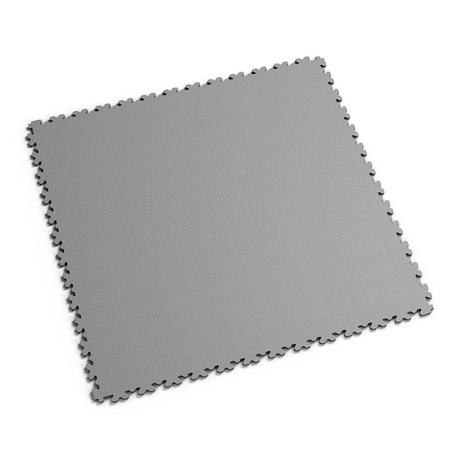 Šedá PVC vinylová zátěžová dlažba Fortelock XL - délka 65,3 cm, šířka 65,3 cm a výška 0,4 cm