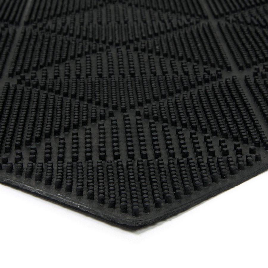 Gumová čistící venkovní vstupní rohož FLOMA Triangles - délka 40 cm, šířka 60 cm a výška 0,7 cm