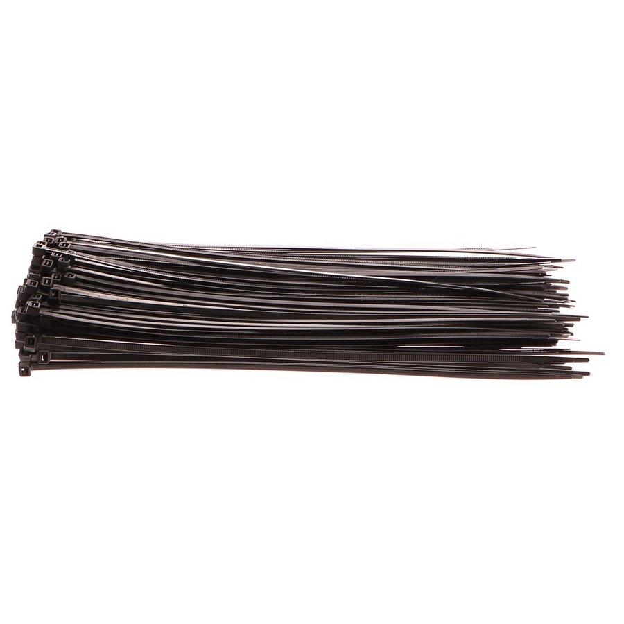 Černá nylonová stahovací páska - délka 30 cm a šířka 0,48 cm - 100 ks