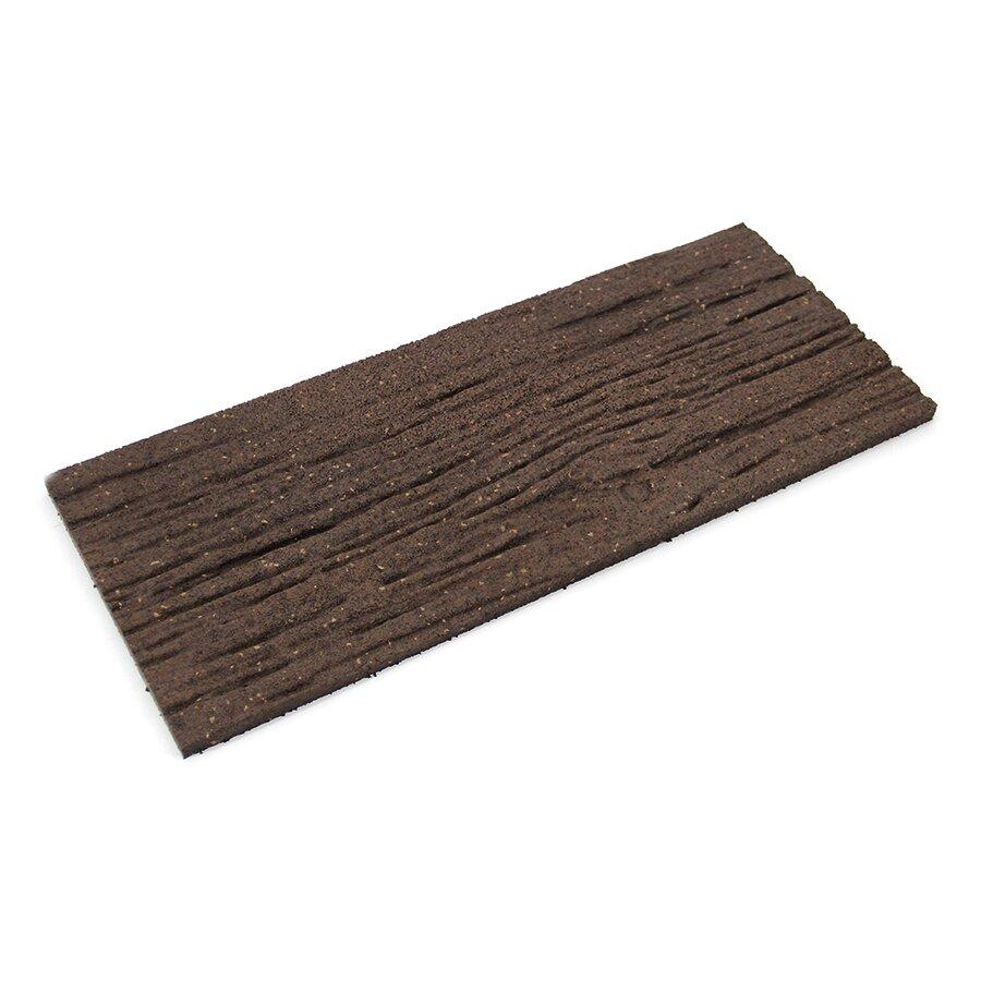 Hnědý gumový zahradní nášlap FLOMA Wood - délka 26 cm, šířka 60 cm a výška 1,7 cm