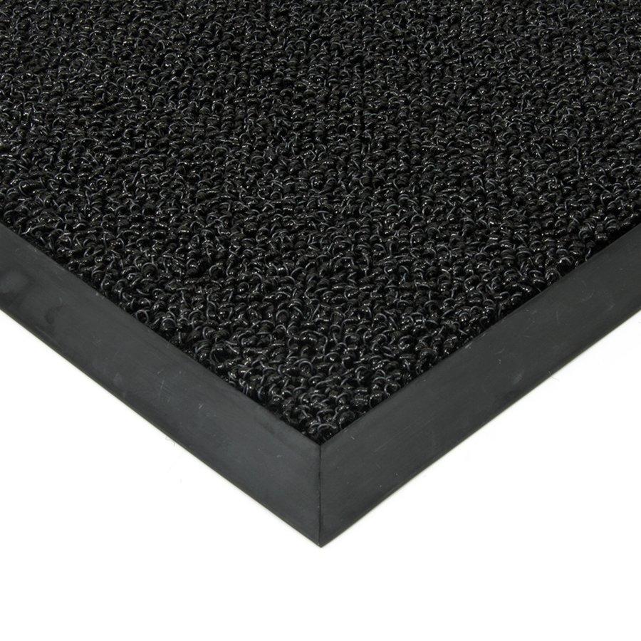 Černá plastová zátěžová čistící venkovní vnitřní vstupní rohož Rita, FLOMAT - výška 1 cm