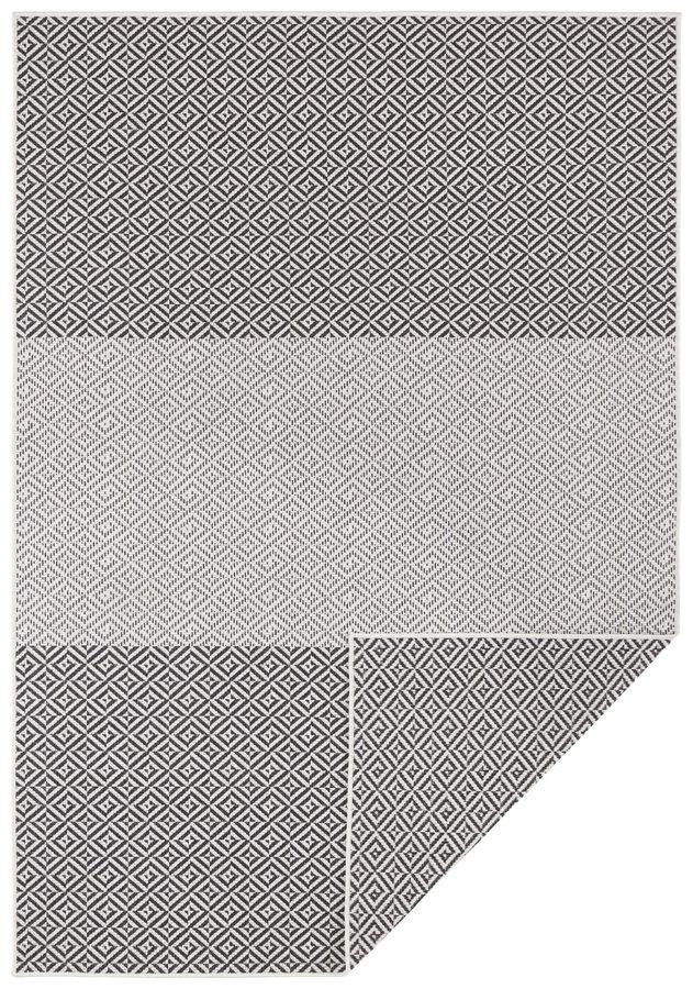 Antracitový oboustranný moderní koberec Twin-Supreme