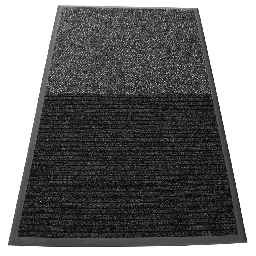 Antracitovo-šedá textilní dvouzonová vnitřní čistící vstupní rohož VIP - délka 200 cm a šířka 100 cm