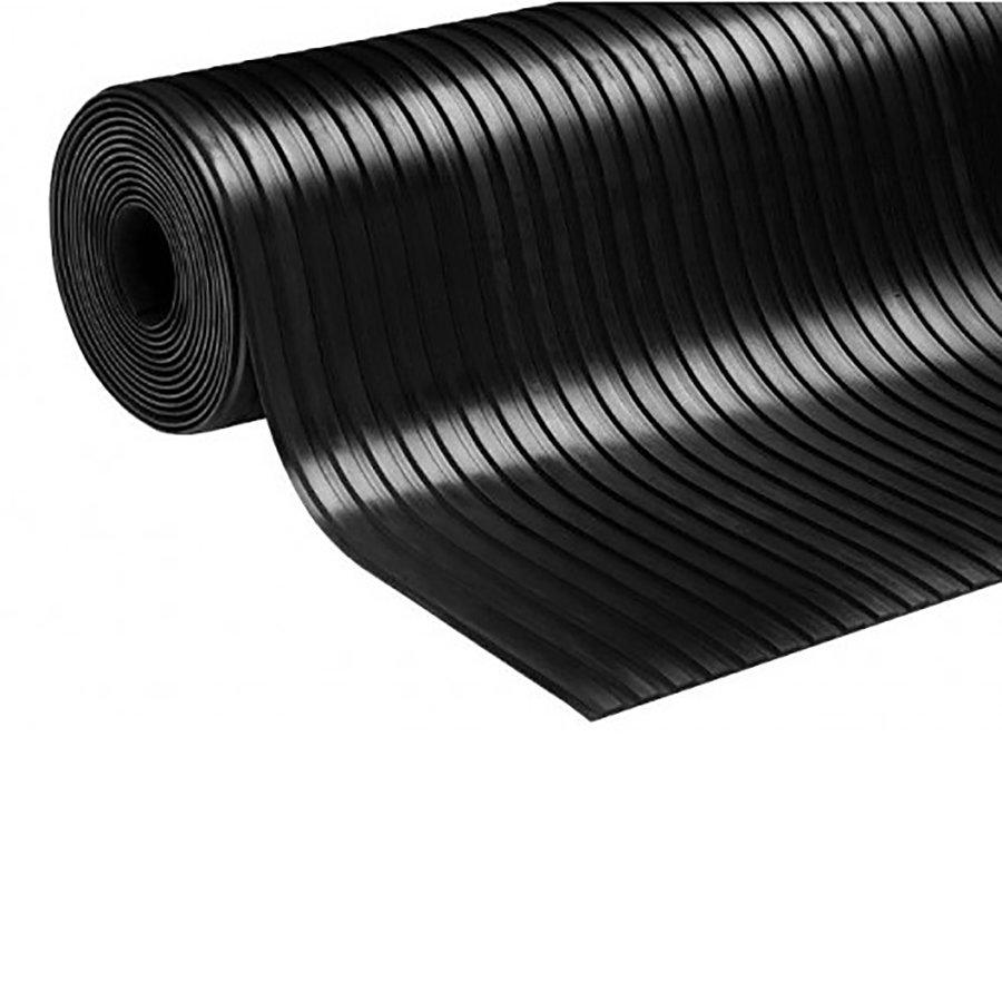 Protiskluzová průmyslová podlahová guma Wide Grooves, FLOMA - šířka 125 cm