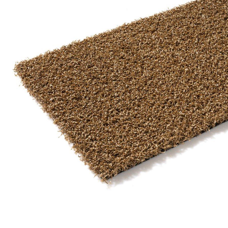 Hnědý metrážový umělý trávník Colourfull Grass, Teak, FLOMA - délka 1 cm a výška 1,4 cm