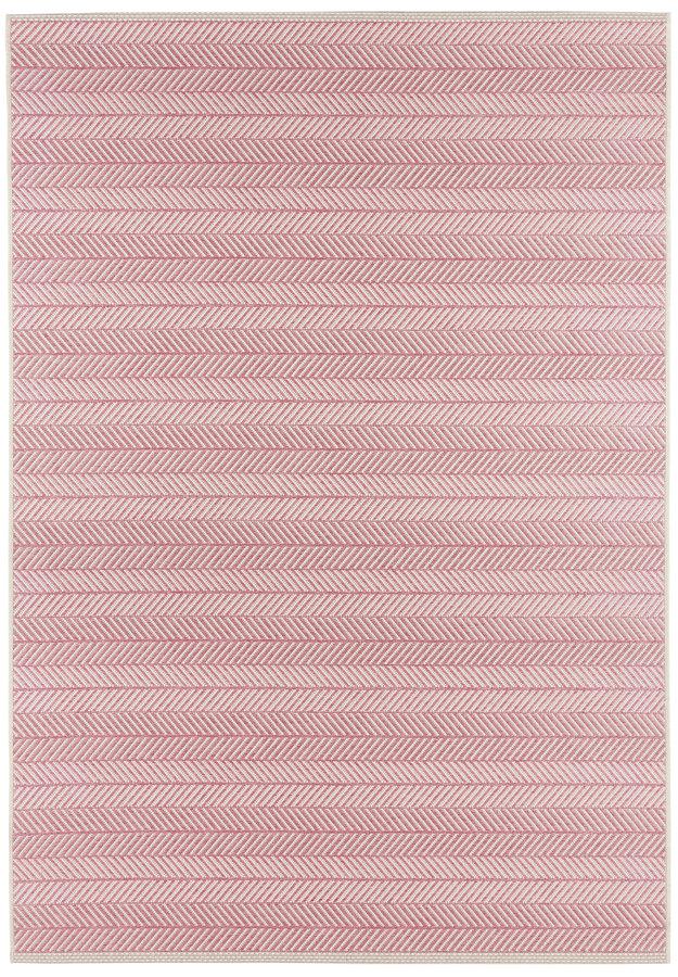 Růžový kusový moderní koberec Botany