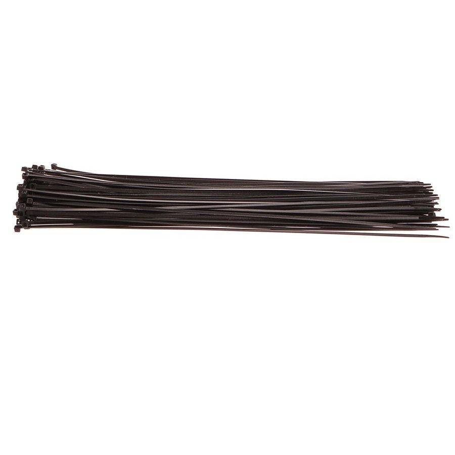 Černá nylonová stahovací páska - délka 50 cm a šířka 0,48 cm - 100 ks